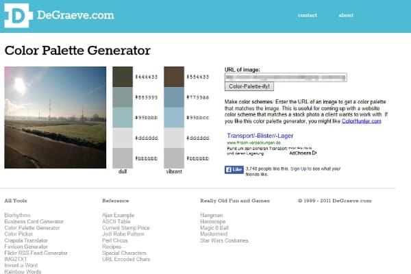 Farbpaletten erstellen mit DeGraeve.com