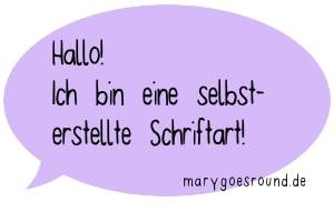 Schriftart/Font von marygoesround.de