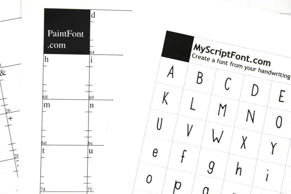 Eigene Schriftart erstellen: Templates MyScriptFont.com und PaintFont.com