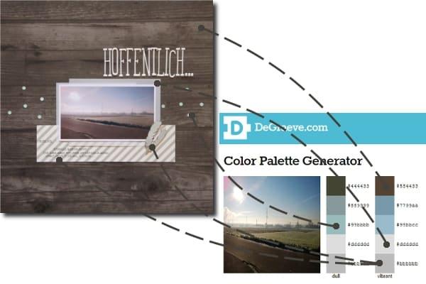Farbpaletten erstellen: Layout-Vergleich mit Farbpalette