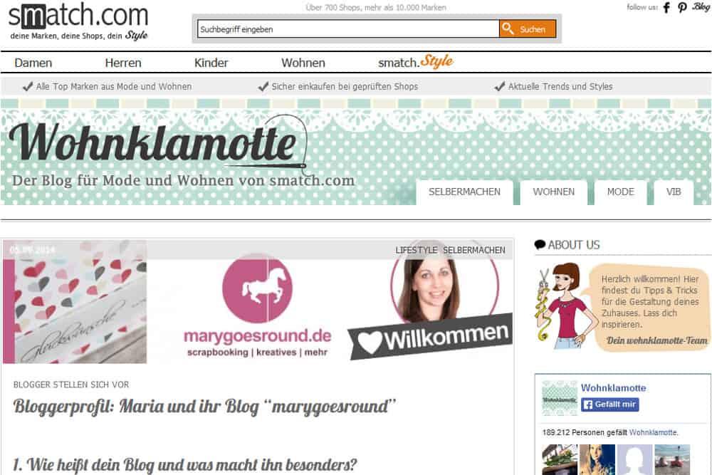 Blogger-Interview Wohnklamotte | marygoesround.de