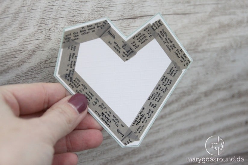 Herz aus Washi Tape, Valentinstag | marygoesround.de